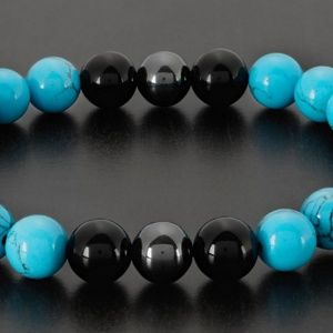 Other - Men's Natural Healing Stone Stretch Bracel…